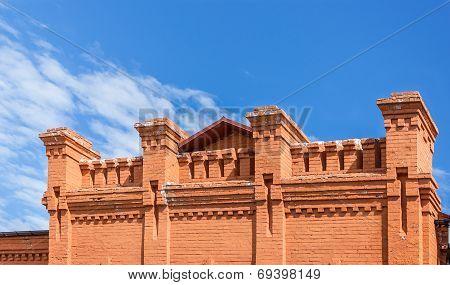 Pattern brick bond of of the parapet