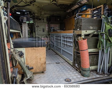 Inside A Military Vehicle