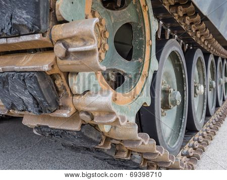 Detail Of Military Tank
