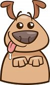 foto of begging dog  - Cartoon Illustration of Funny Hungry Dog Begging for Food - JPG