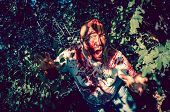 picture of walking dead  - Man zombie walking dead outdoors - JPG