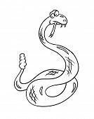 picture of anaconda  - cartoon snake - JPG
