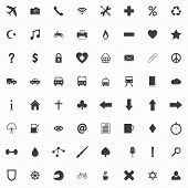 picture of glyphs  - Set of clean gray flat web icons and glyphs - JPG