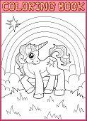 pic of unicorn  - Coloring book - JPG