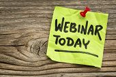 stock photo of reminder  - webinar today reminder  - JPG