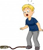 picture of child missing  - Illustration Featuring a Boy Shocked to Discover His Pet Missing - JPG