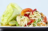 pic of green papaya salad  - Papaya Salad Thai call  - JPG