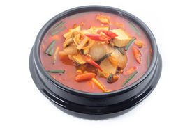 image of kimchi  - kimchi stew kimchi chigae korean cuisine kimchi soup isolate on white background - JPG