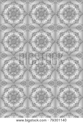 Background with the convex openwork gray floral pattern