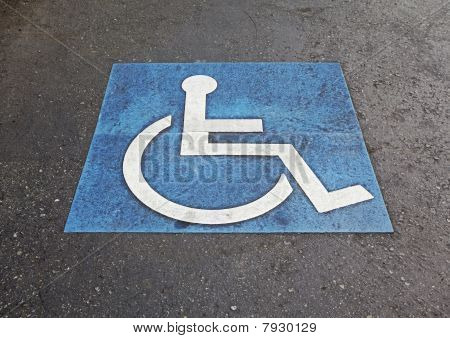 International Symbol Of Handicapped Marking Parking Space