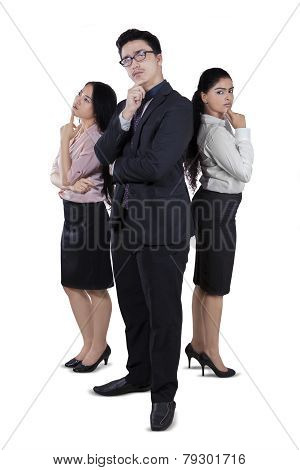 Full Length Of Diverse Business Team