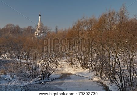 Winter View In Moscow