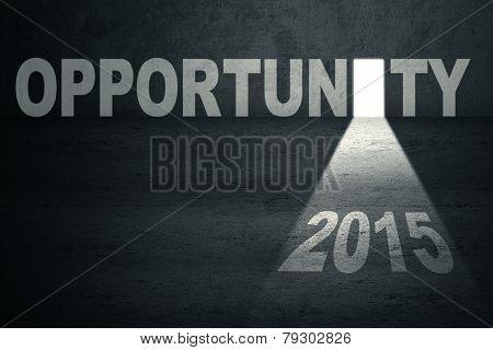 Opened Opportunity Door With Number 2015