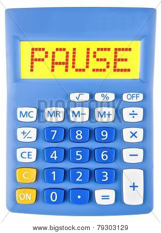 Calculator With Pause