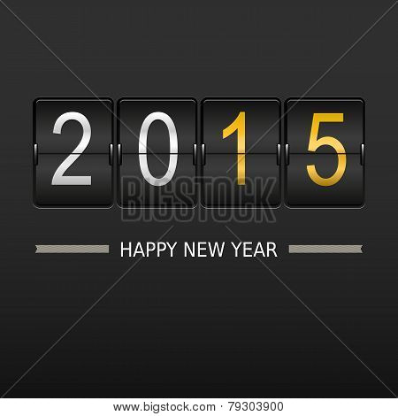 2015 happy new year on mechanical timetable