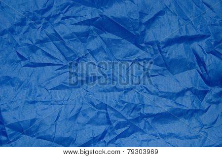 Blue wrinkle Nylon Sheet Texture
