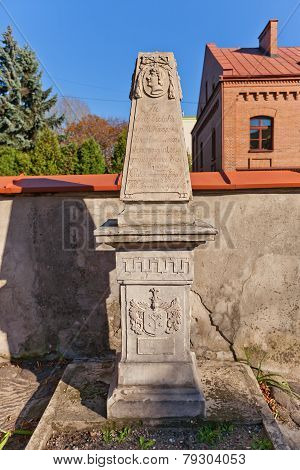 Tombstone (1822) Of Michael Wyszynski In Lodz, Poland