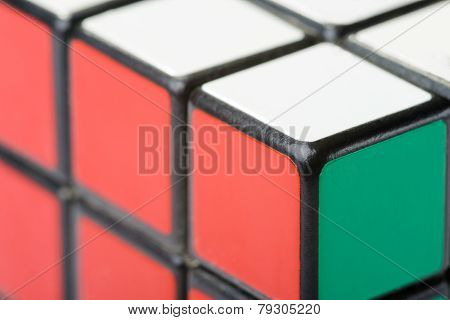 Closeup Of Rubik's Cube