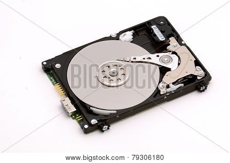 Disassembled Hdd Isolated On White Background
