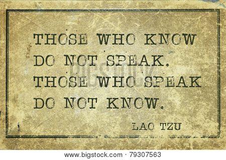 Who Know Tzu