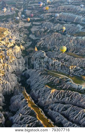 Aerial Photography Of A Mountain Landscape