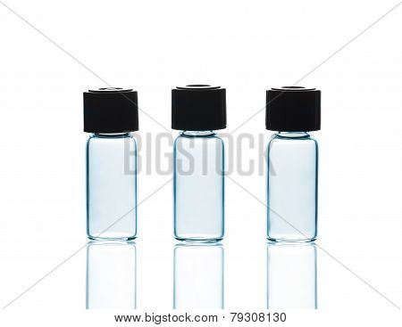 Empty Vials With And Reflections