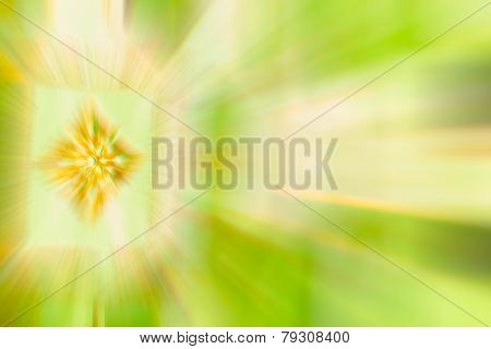 Green Color Stripe Radial Motion Blur Abstract