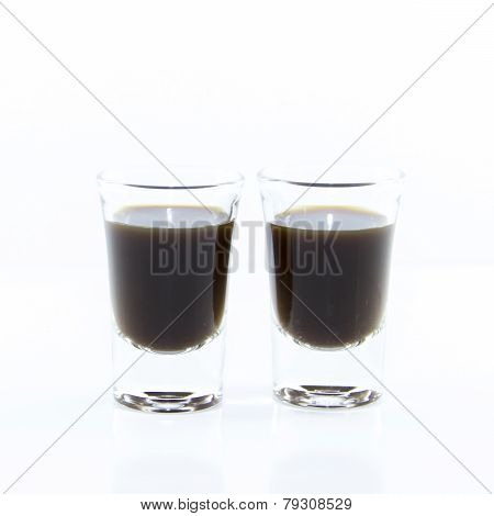 Two Espresso In Shot Glass