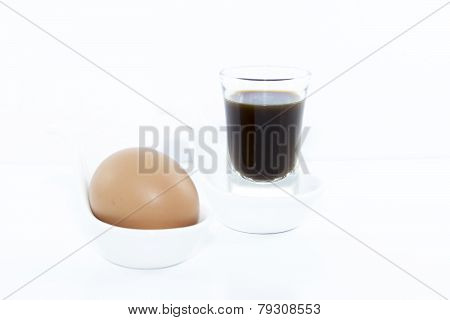 Espresso Shot With Boiled Egg