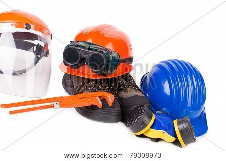 Various safety equipment.