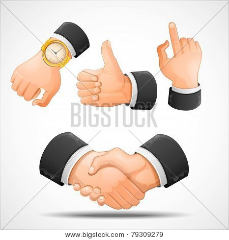 Handshake and hand gestures