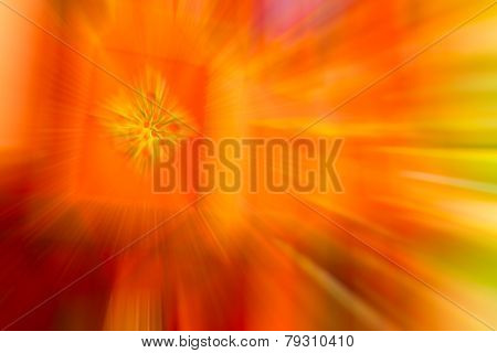 Orange,gold Color Stripe Radial Motion Blur Abstract
