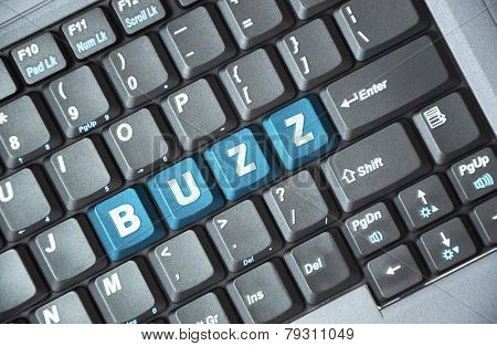 Blue buzz key on keyboard
