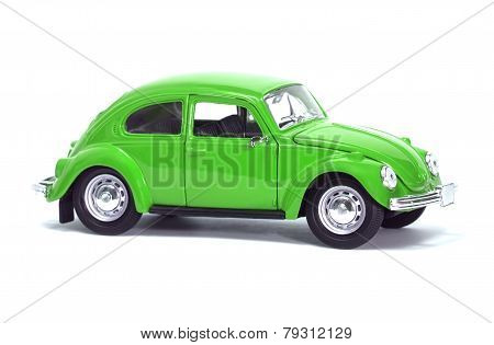 Green Car Vw Bug