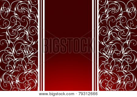 Background-Burgandy And White Swirls