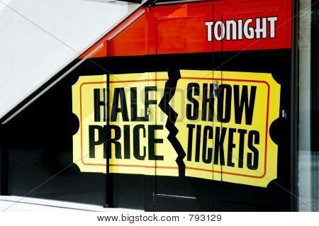 half Price show tickets