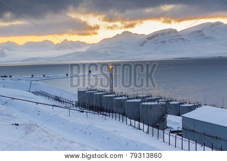 Barentsburg Port  - Russian Village On Spitsbergen