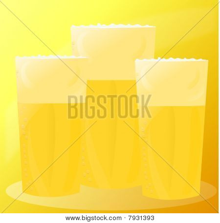 vector illustration of beer mugs