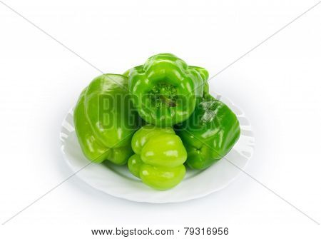 Sweet green peppers