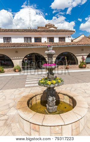 Inviting Courtyard And Garden At Upscale Hotel In Cusco, Peru, South America