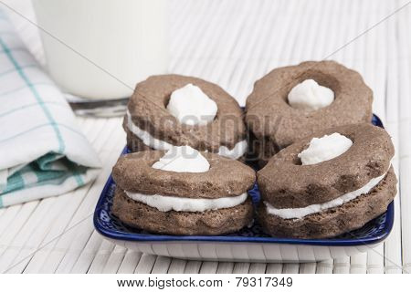 Four Cookies And Milk