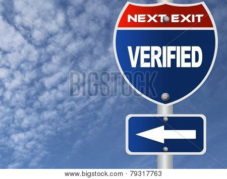 Verified road sign