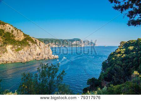 Paleokastritsa Bay, Corfu Island, Greece