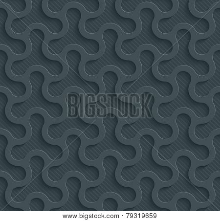 Dark gray perforated paper with cut out effect. See others in a Perforated Paper Set. Vector EPS10.