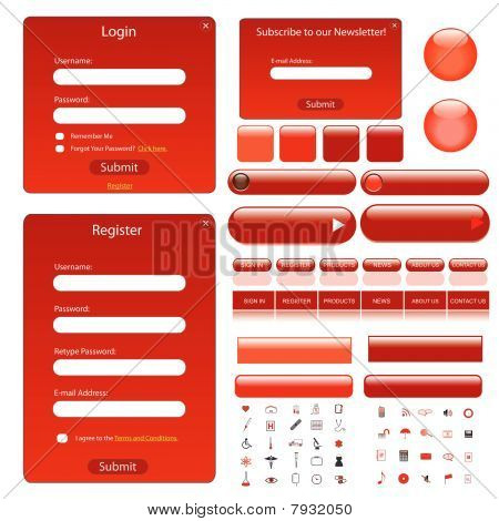 Web Template Red