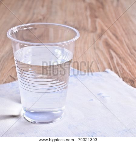 Transparent Liquid In A Plastic Cup