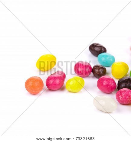 sweet colorful glaze candies