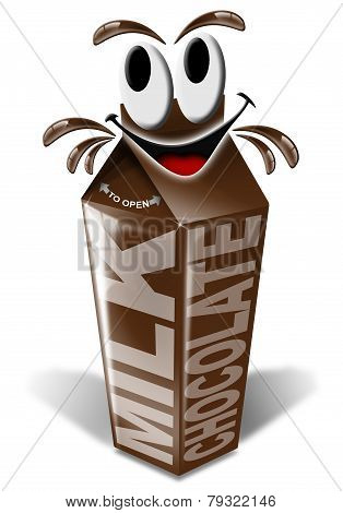 Carton And Cartoon Chocolate Milk