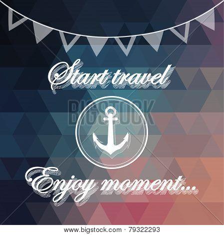 Motivation phrase on triangle background