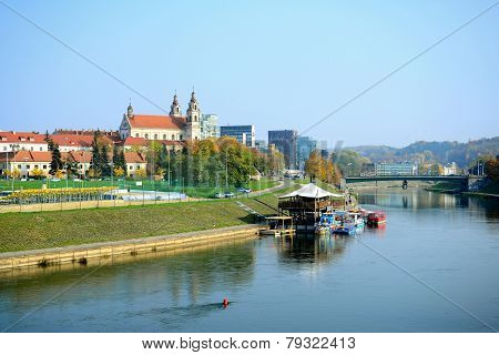 Vilnius City Ship Restaurant In The Neris River
